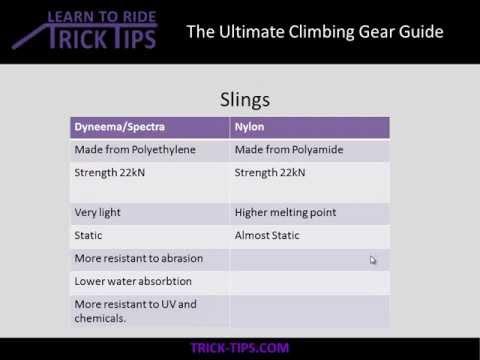 Climbing Gear Guide – Slings/Webbing